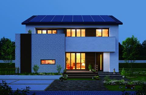 「極暖の家」夜のイメージ