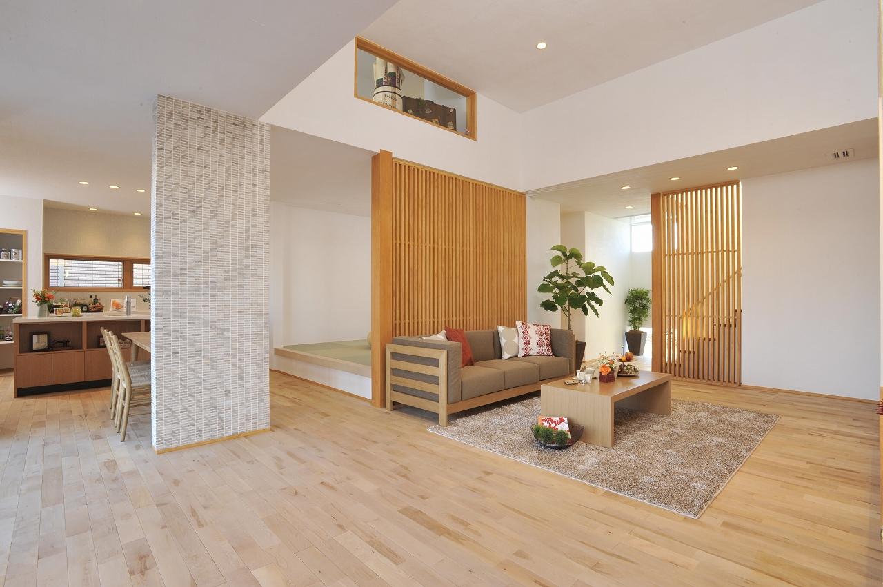 熊谷住宅展示場_リビング風景
