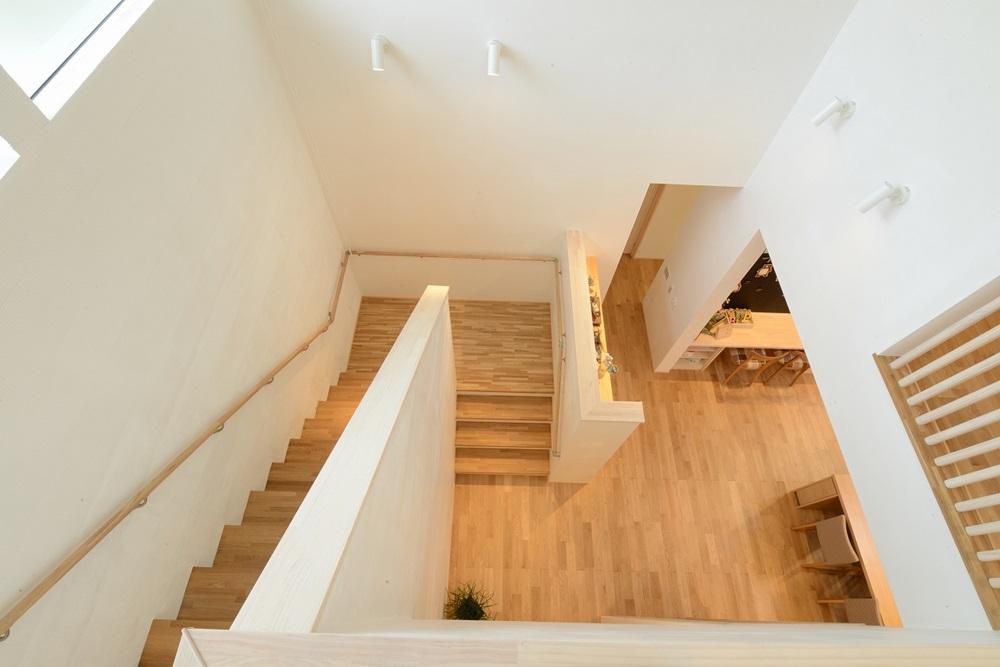 2階から1階を見た風景