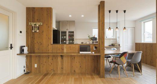 群馬県の建築実例_造作キッチン