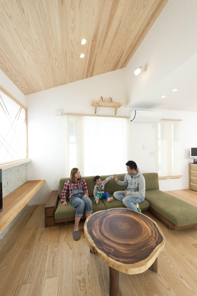 栃木県の建築実例_こだわりのリビング